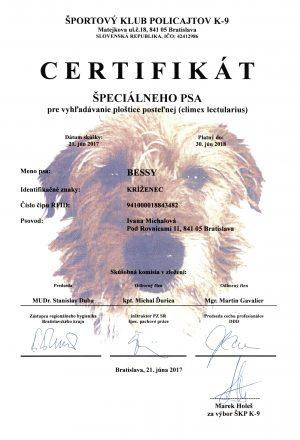 Bessy certifikat