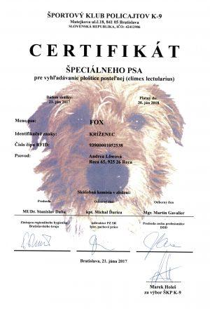 Fox certifikat
