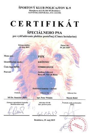 certifikat-specialneho-psa-plostice-fox