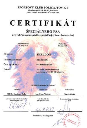 certifikat-specialneho-psa-plostice-shledon